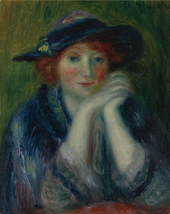 WILLIAM J. GLACKENS - PORTRAIT STUDY OF AN ARTIST'S MODEL 1870-1938