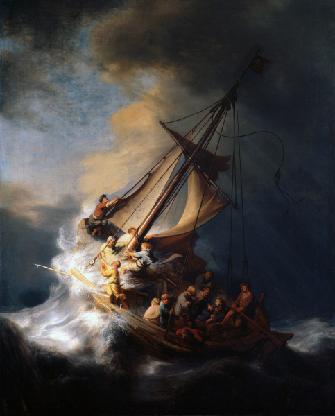Rembrandt Harmenszoon van Rijn -  Christ in the Storm on the Lake of Galilee