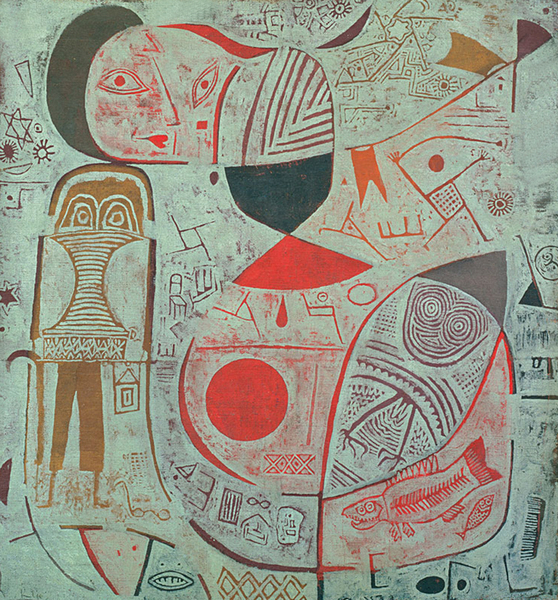 Paul Klee - Printed Sheet with Picture (Bilderbogen), 1937