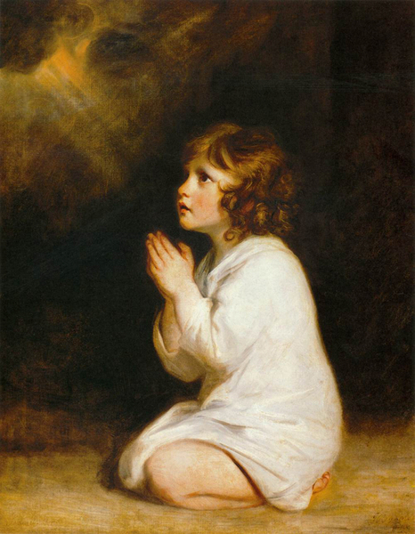Sir Joshua Reynolds - Infant Samuel at Prayer